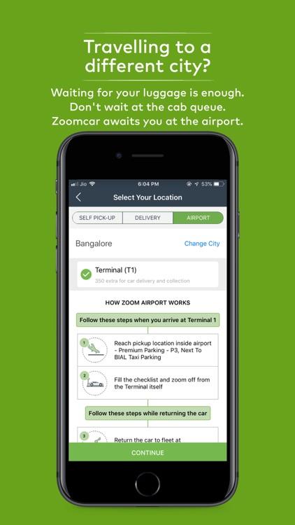 Zoomcar - Self Drive Cars screenshot-3