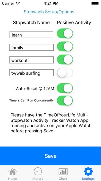 TimeOfYourLife Multi Stopwatch Screenshots
