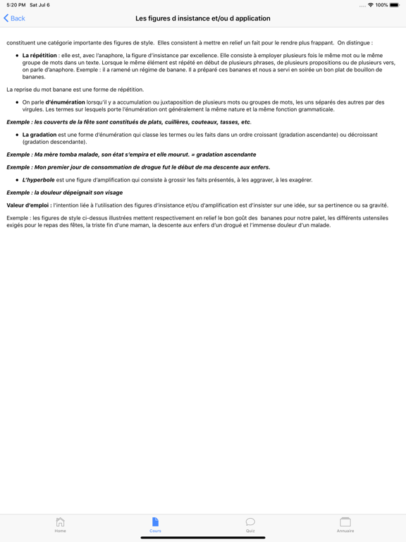 Cours de Français screenshot 15