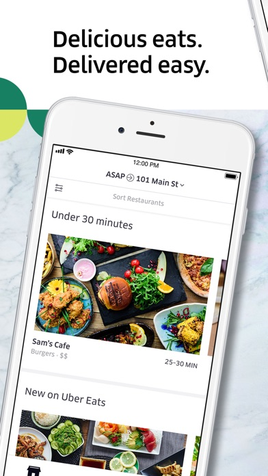 Screenshot for Uber Eats: Food Delivery in Greece App Store