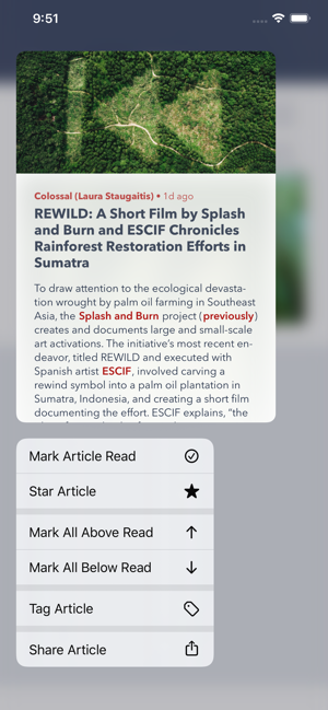‎Fiery Feeds: RSS Reader Screenshot