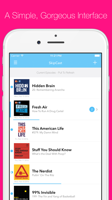 SkipCast: Podcast Playerのおすすめ画像1