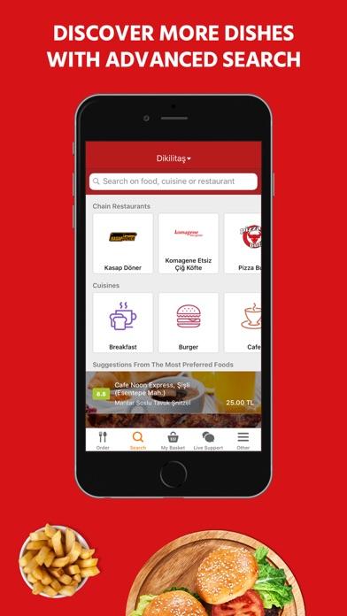 Yemeksepeti ekran görüntüsü