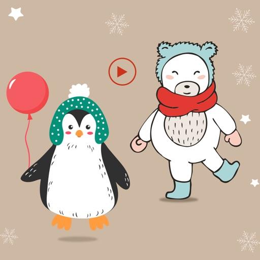 Polar Bear & Penguin Stickers