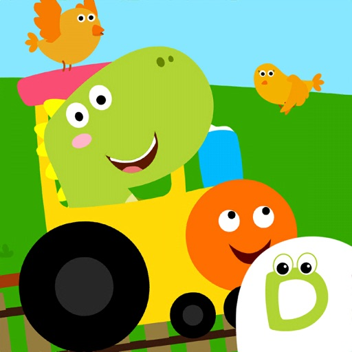 Dino Town Train Games for Kids