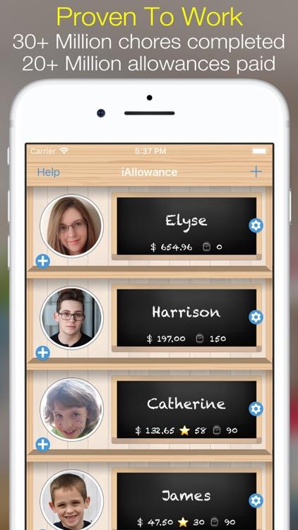 iAllowance (Chores Allowances) screenshot-0