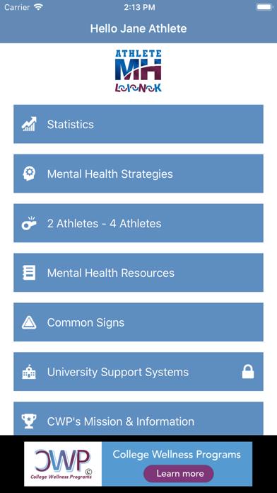点击获取Athlete Mental Health Link