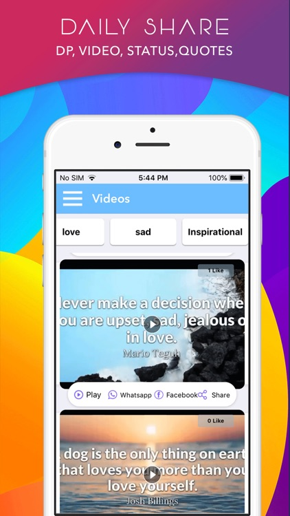 DP -Status,Video,Quote,Sticker by Ajay Gorasiya