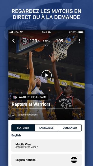 NBA App Officielle sur pc