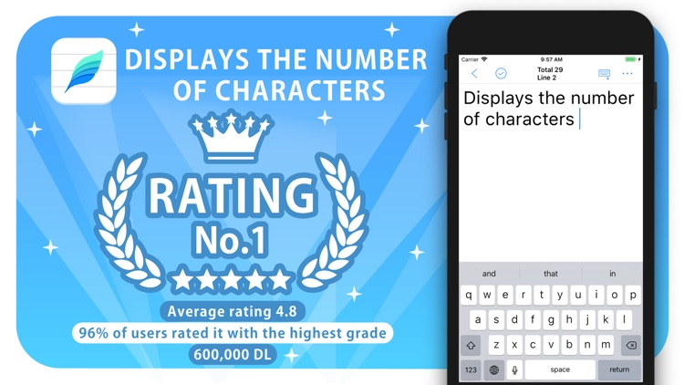 Characters count notes+