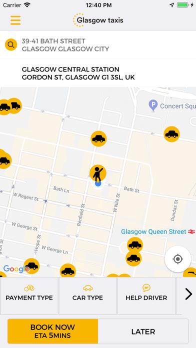 Glasgow Taxis screenshot one
