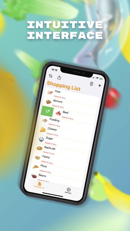 iGrocery list - Shopping list