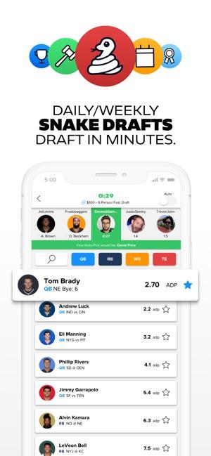 DRAFT: Daily Fantasy Football on the App Store