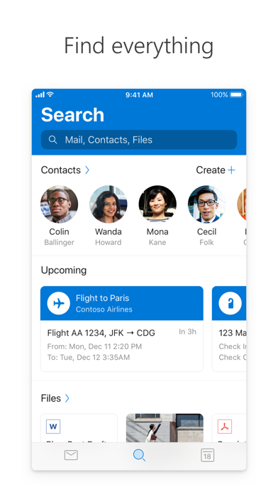 Microsoft Outlook Screenshot on iOS
