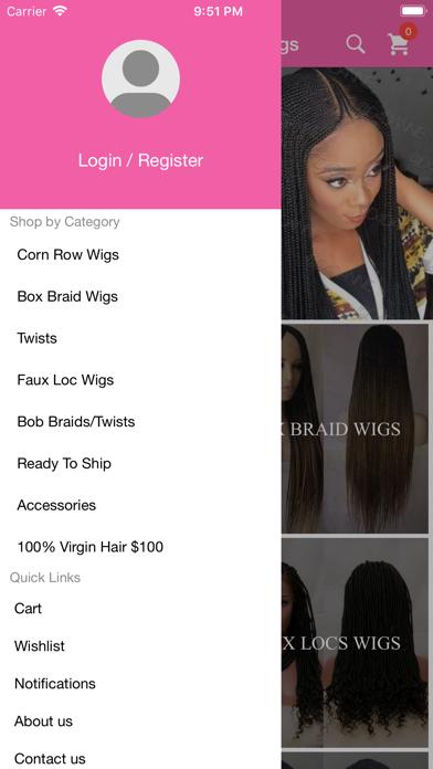 Bella Braided Wigs screenshot two