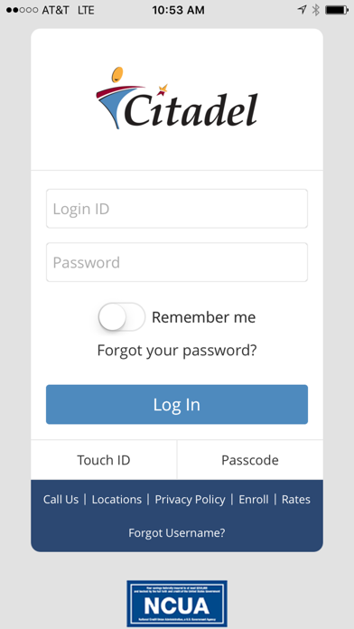 Citadel Mobile Banking screenshot one