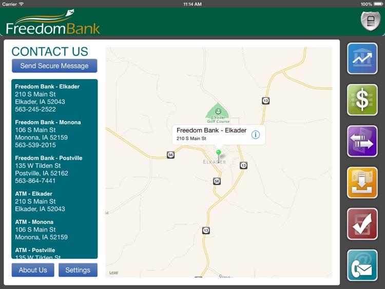 FreedomBank (Iowa) for iPad screenshot-3