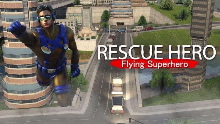 Rope Swing Hero Rescue Mission screenshot-3