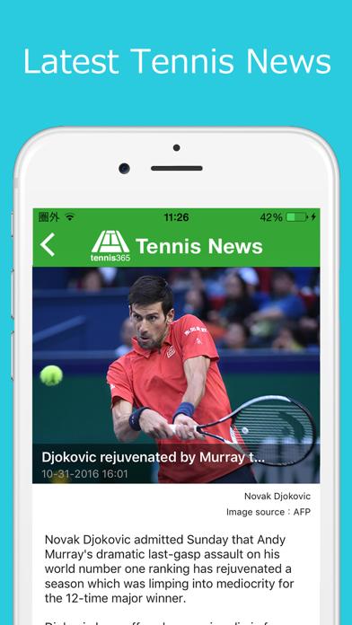 World Tennis News / LiveScores screenshot two