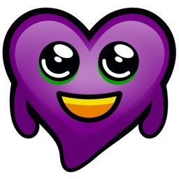 Purple Hearts stickers
