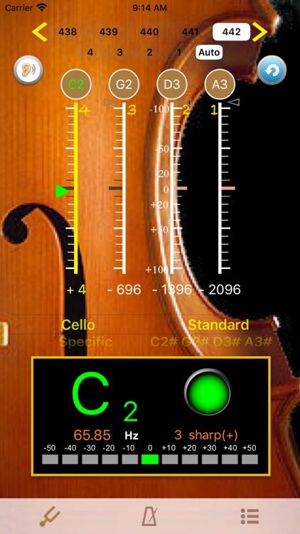Cello Tuner - PRO