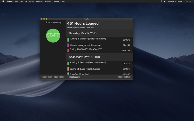 TimeTag - Manage Your Time for Mac