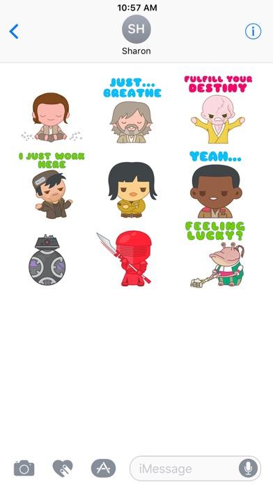 The Last Jedi Stickers Screenshot
