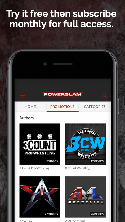 Powerslam Wrestling Network screenshot-3