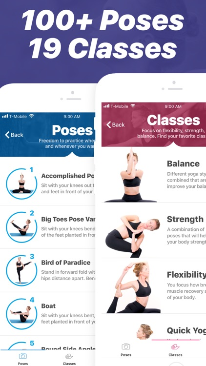 Yoga - Poses & Classes at Home