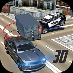 Chained Car Police Chasing 3D