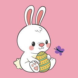 Cute Bunnies & Easter Stickers