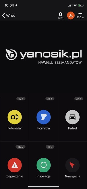 Yanosik Screenshot