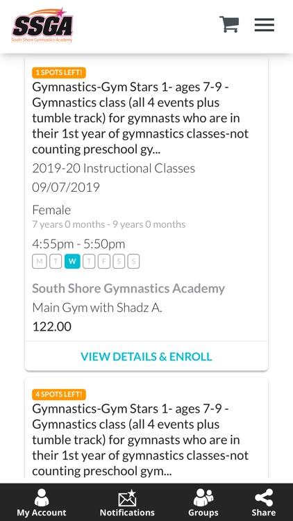 South Shore Gymnastics Academy screenshot-3