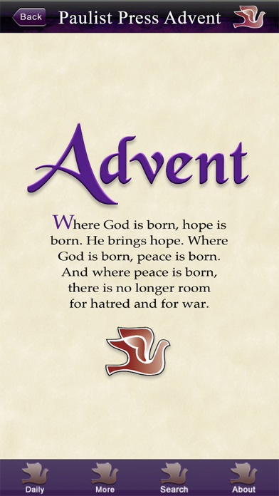 Screen Shot Advent with Pope Francis 1