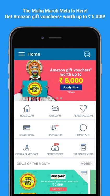 BankBazaar- Credit Card, Loans screenshot-0