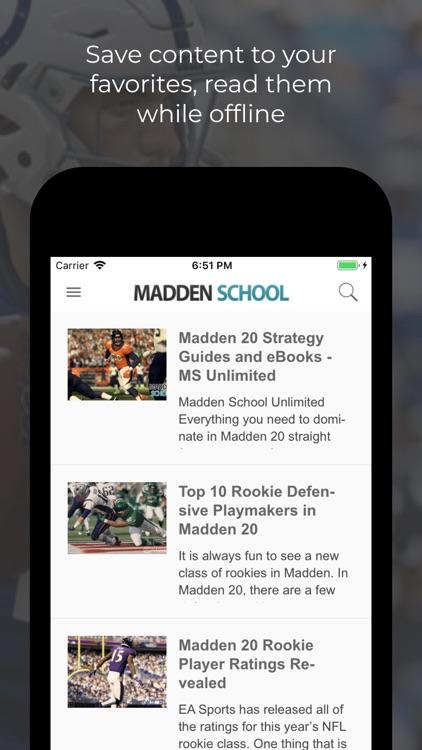 App For Madden School