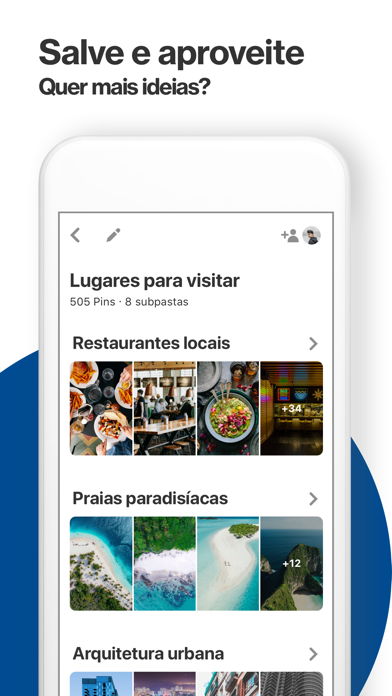 Screenshot for Pinterest in Brazil App Store