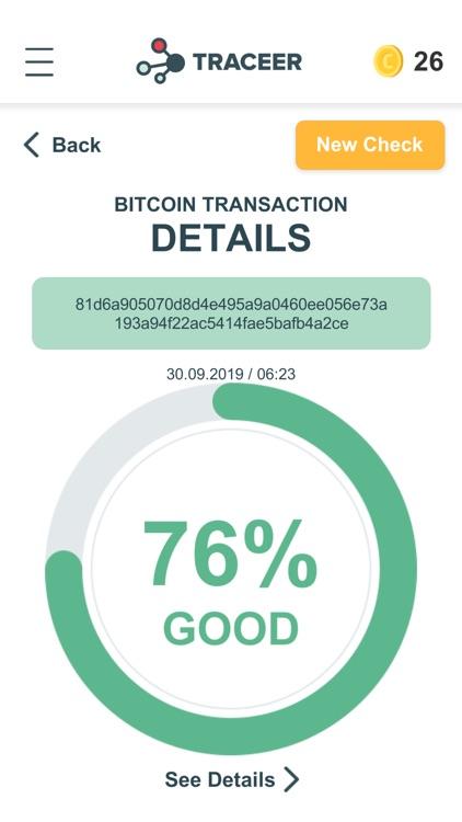 Traceer - check Bitcoins screenshot-3