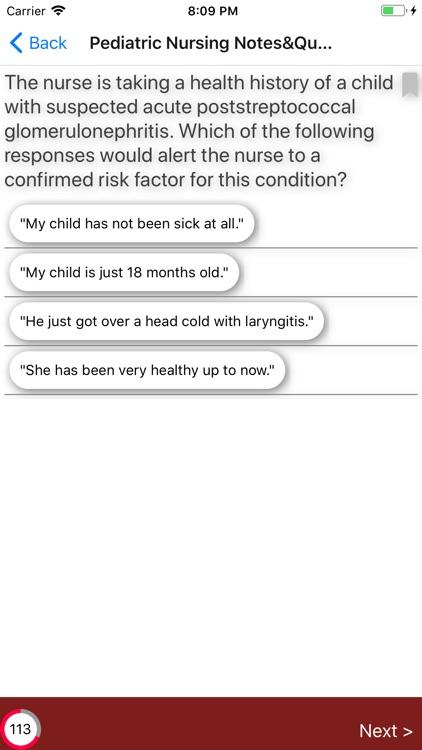 Pediatric Nursing Exam Review screenshot-3