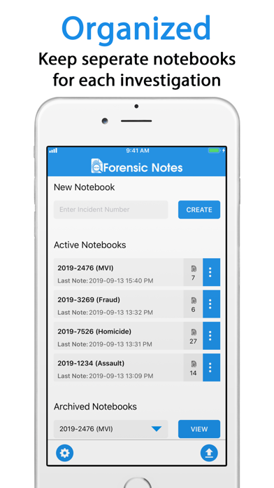 Forensic Notes Ios App
