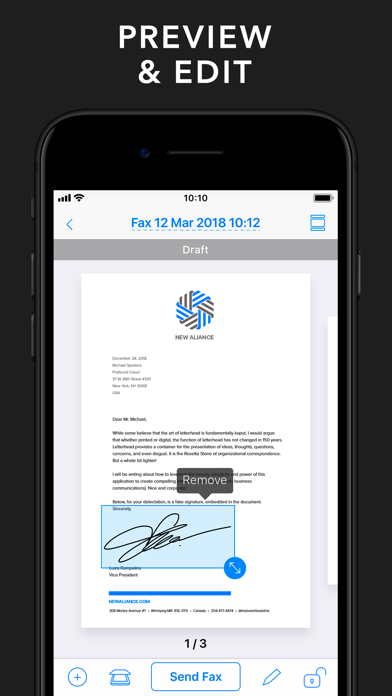 Fax from iPhone - Send Fax App Screenshot