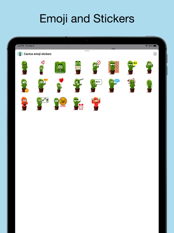 Cactus emoji - funny plants screenshot 6