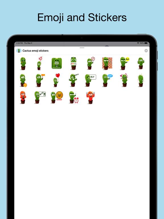 Cactus emoji - funny plants screenshot 6