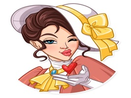 Lady Style Funny Stickers