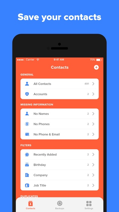 messages.download Contact: Contacts Cleanup Sync software
