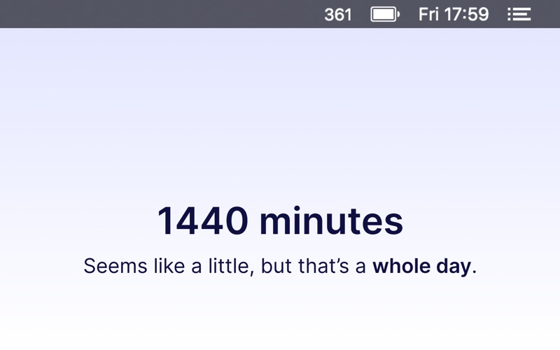 1440 Minutes Left Today for Mac