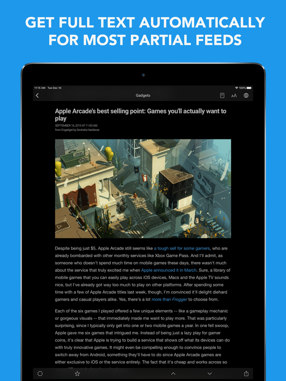 Screenshot #6 pour Newsify: RSS Reader