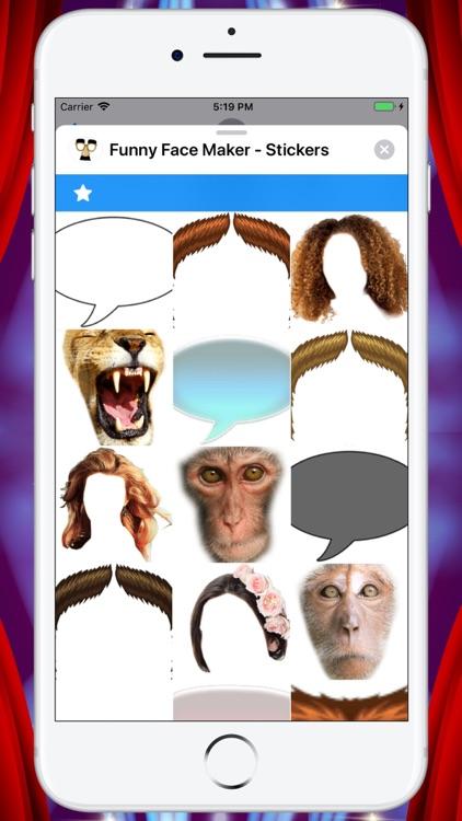 Funny Face Maker - Stickers screenshot-7
