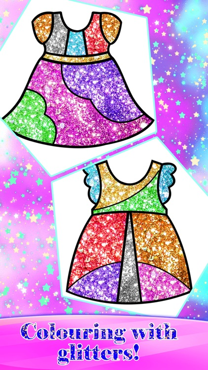 Glitter Fashion Art Coloring screenshot-8