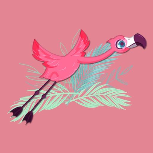 Flamingo Birdy Stickers